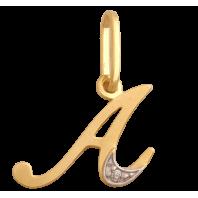 Złota zawieszka literka A złoto 585