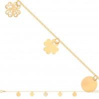 Złota bransoletka- KONICZYNKI- próba 585