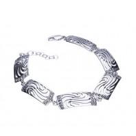 ELEGANCKA srebrna bransoleta + cyrkonie