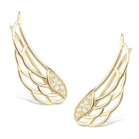 Złote nausznice SKRZYDŁA - Wings