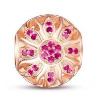 Koralik CHARMS BEADS - Różowe złoto z cyrkoniami