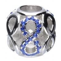 Koralik CHARMS BEADS - Infinity Blue
