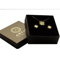 Zloty komplet biżuterii CELEBRYTKA - KONICZYNKA AŻUR