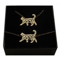 Złoty komplet biżuterii CELEBRYTKA - KOTEK