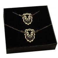 Złoty komplet biżuterii CELEBRYTKA - LEW ORIGAMI