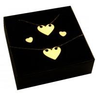 Złoty komplet biżuterii CELEBRYTKA - SERCE