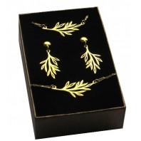 Złoty komplet biżuterii CELEBRYTKA - LISTEK
