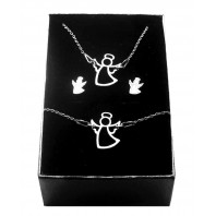 Srebrny komplet biżuterii CELEBRYTKA - ANIOŁEK
