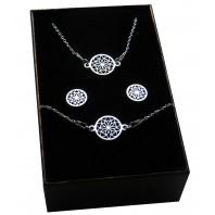 Srebrny komplet biżuterii CELEBRYTKA - AŻUR