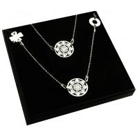 Srebrny komplet biżuterii CELEBRYTKA - AŻUR - 3 zawieszki