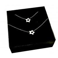 Srebrny komplet biżuterii CELEBRYTKA - GWIAZDKA