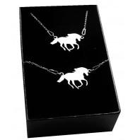Srebrny komplet biżuterii CELEBRYTKA - KOŃ