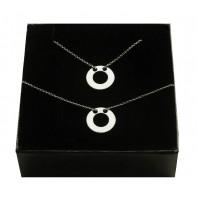 Srebrny komplet biżuterii CELEBRYTKA - KÓŁKO