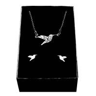 Srebrny komplet biżuterii CELEBRYTKA - KOLIBER AŻUR