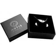 Srebrny komplet biżuterii CELEBRYTKA - PIÓRO